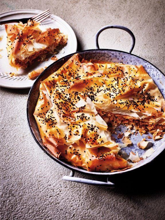 Börek met chorizo en geitenkaas - Sabrina Ghayour