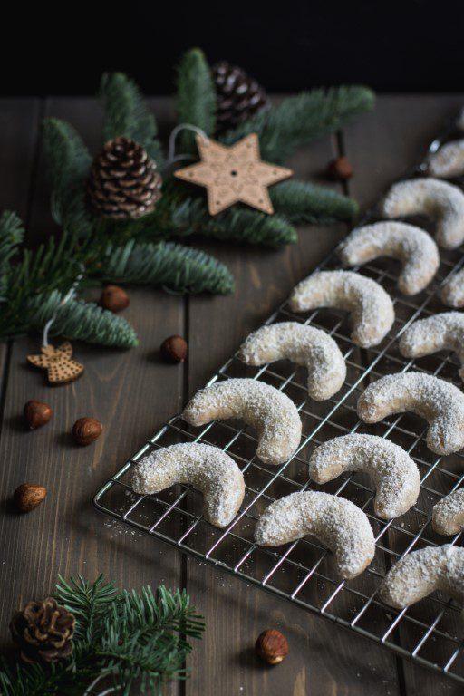 Halve maan koekjes uit Tsjechië vanilkové rohlíčky
