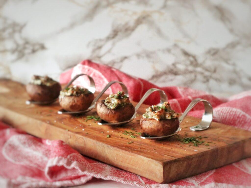 gevulde champignons uit de oven vegetarisch
