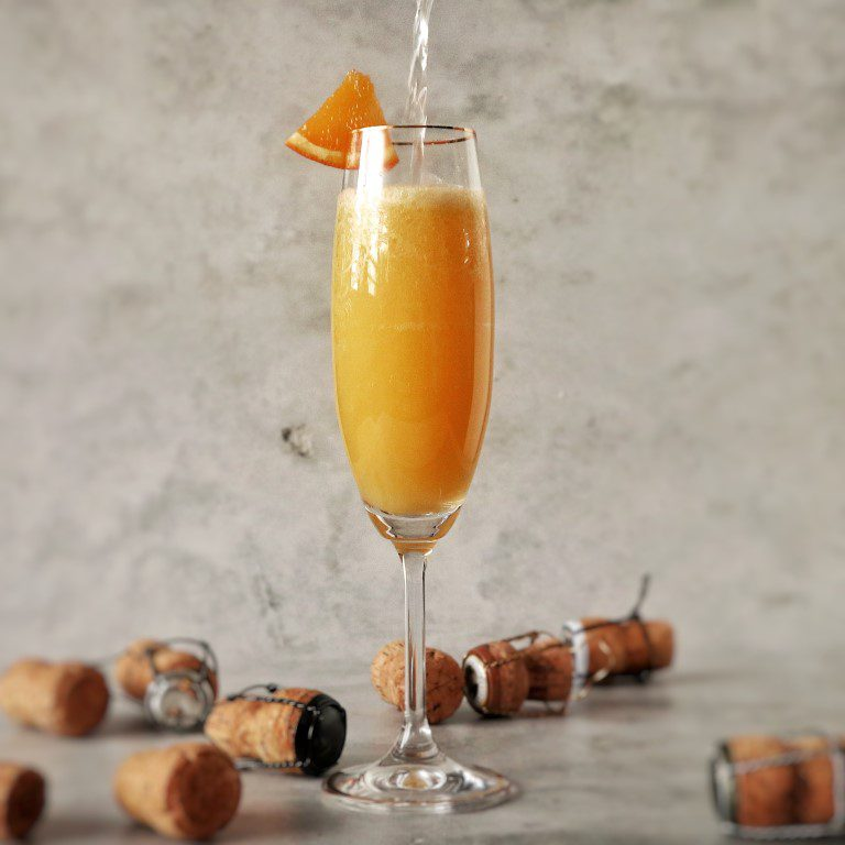 Champagne cocktail: de Mimosa