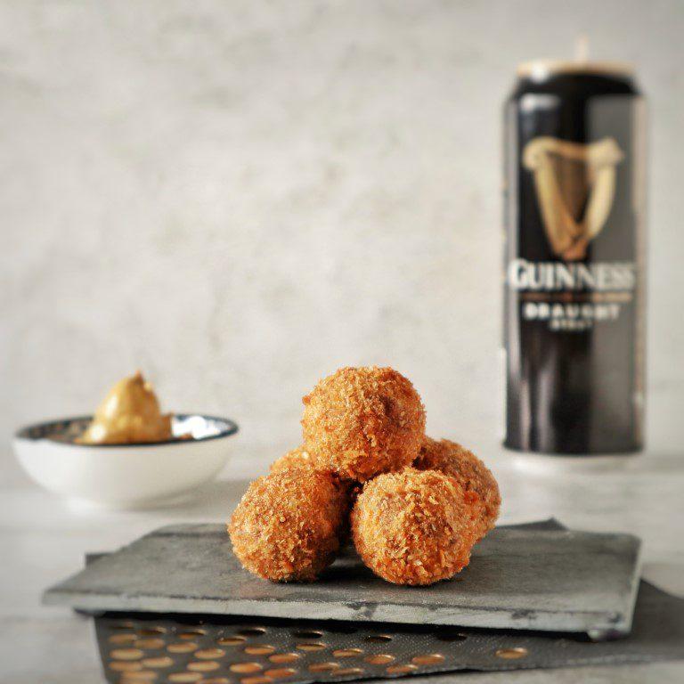 Ierse Guinness rundvleesbitterballen