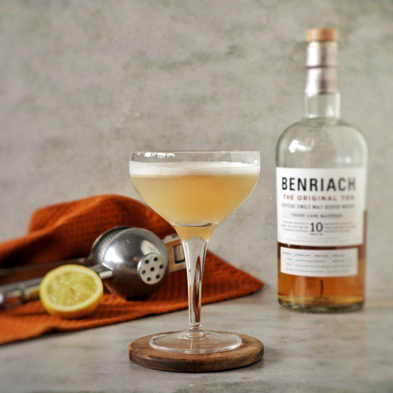 Vegan Whisky sour (met aquafaba)