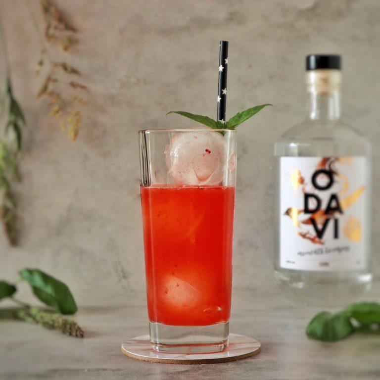 Strawberry & Basil Smash - Odavi Gin