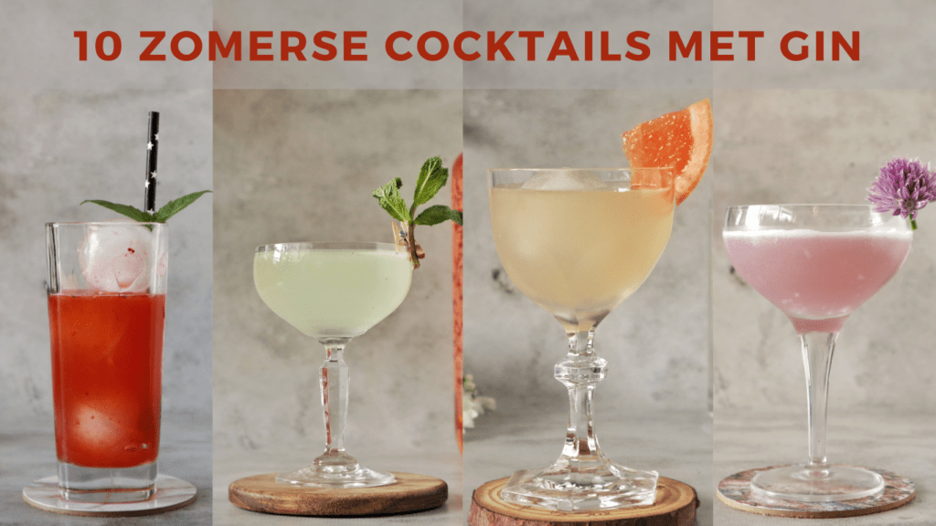 zomerse cocktails met gin
