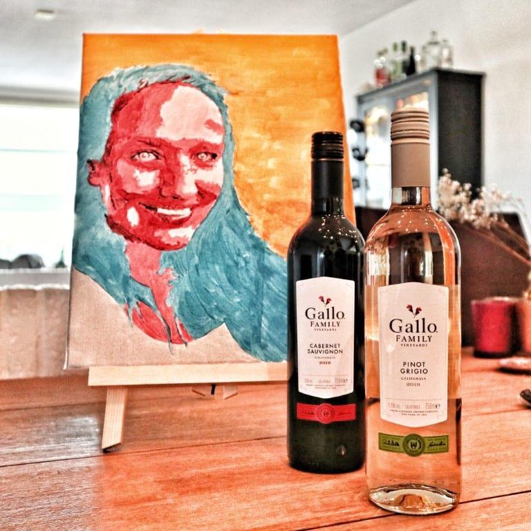 Even tijd voor jezelf met een schilderworkshop en een glas wijn van Gallo Family Vineyards