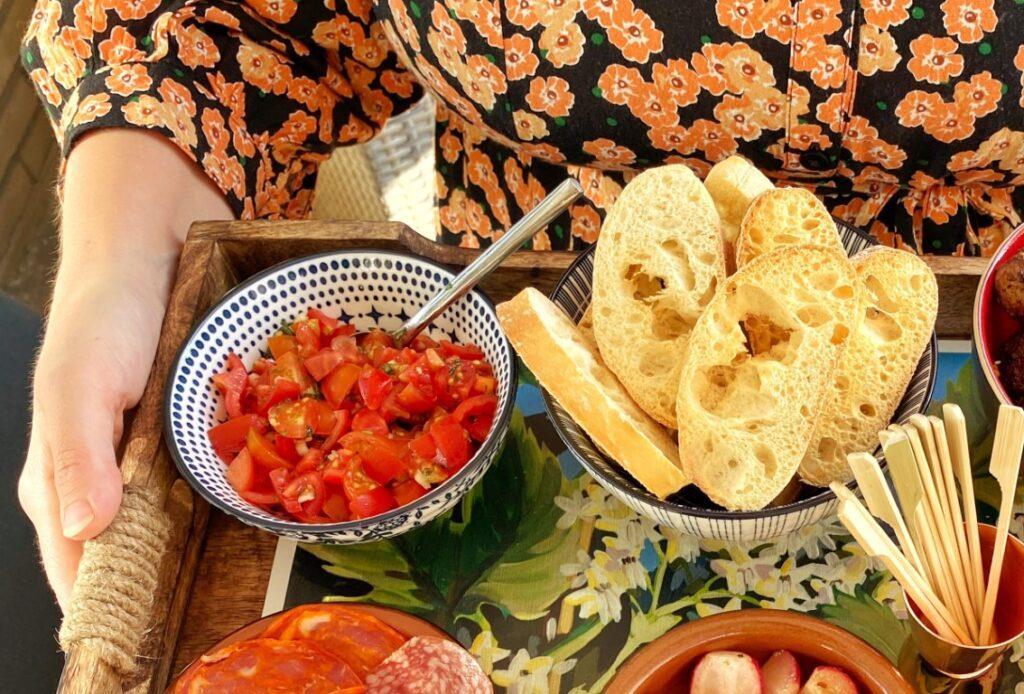 bruschetta met tomaat en knoflook