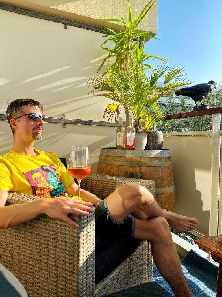 Picknicken met Gallo Family Vineyards op ons eigen balkon