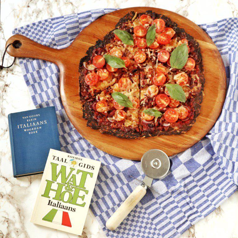 Voel je lekker energiek Broccoli pizza met spekjes en cherrytomaat